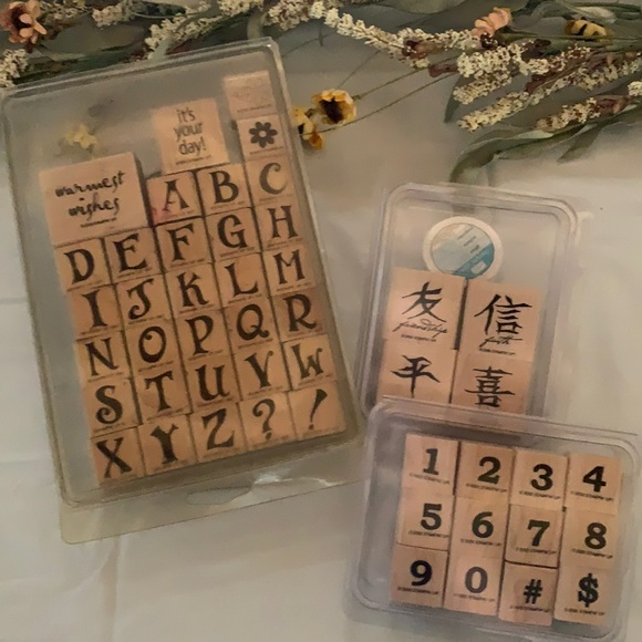 STAMPIN' UP! Letter/Numbers Bundle
